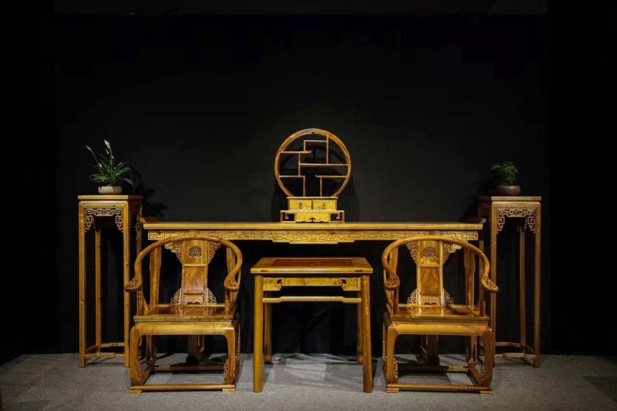 Feature:A Set Of Chinese Living Room Furniture (1*), Phoebe Zhennan S. Lee  (2*), Mortise And Tenon (3*). Listing Include Two Traditional Chinese Arm  Chairs ...